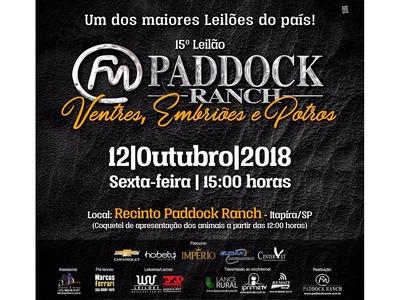 Leilão Paddock Ranch Ventres, Embriões e Potros