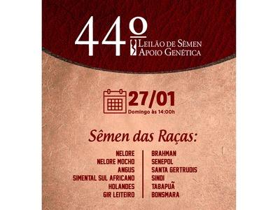 44º Leilão de Sêmen Apoio Genética